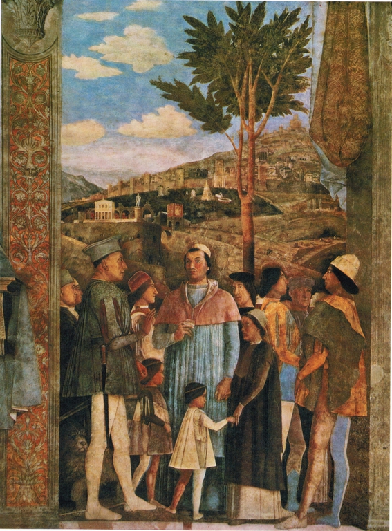 Lagotto tr ffel pilze andrea mantegna 1465 1474 for Camera picta mantova